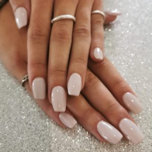 Natural Acrylic Nails with Gel