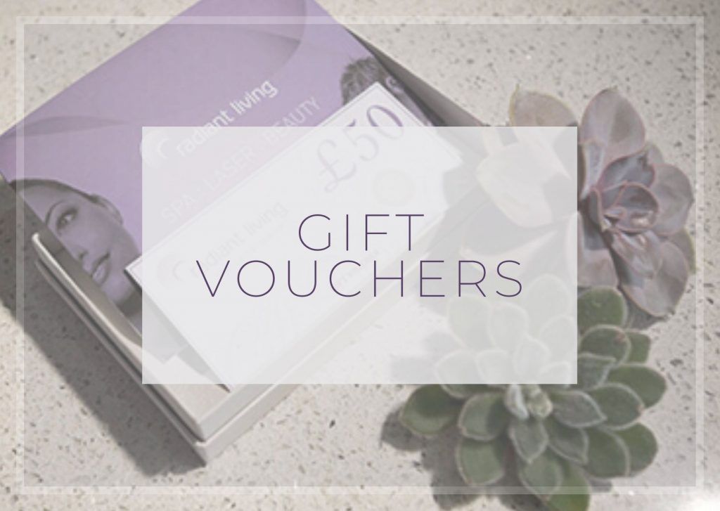 Gift vouchers at Radiant Living
